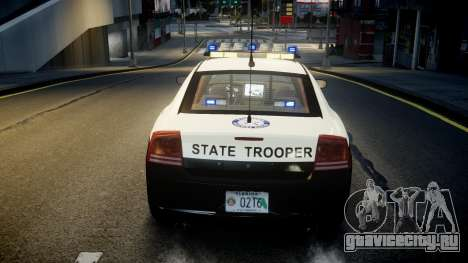Dodge Charger Florida Highway Patrol [ELS] для GTA 4 вид сверху