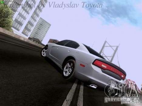 Dodge Charger 2013 для GTA San Andreas вид сзади