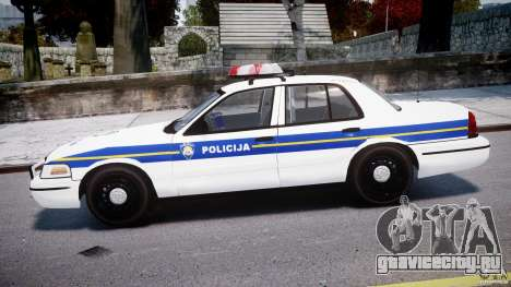 Ford Crown Victoria Croatian Police Unit для GTA 4 вид слева