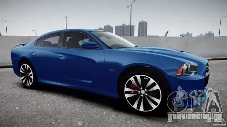 Dodge Charger SRT8 2012 для GTA 4 вид сзади слева