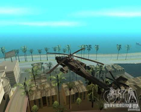 КА-50 Чёрная Акула для GTA San Andreas вид сзади слева
