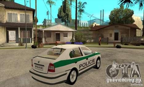 Skoda Octavia Police CZ для GTA San Andreas вид справа