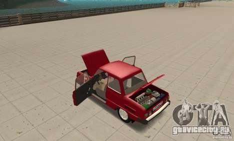 ЗАЗ 968M для GTA San Andreas вид изнутри