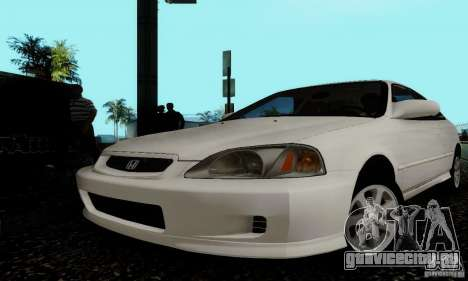 Honda Civic 1999 Si Coupe для GTA San Andreas вид сбоку
