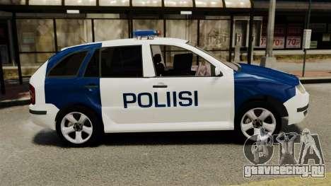 Skoda Fabia Combi Finnish Police ELS для GTA 4 вид слева