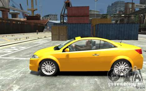 Renault Megane CC Kit RS для GTA 4 вид слева