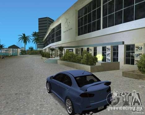 Mitsubishi Lancer Evo X для GTA Vice City вид справа