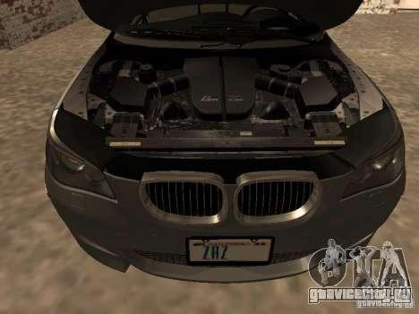 BMW M5 E60 2009 v2 для GTA San Andreas вид сверху