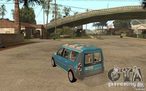 Dacia Logan Steppe Concept для GTA San Andreas вид сзади слева
