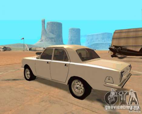 ГАЗ 2410 Волга Hot Road для GTA San Andreas вид сзади