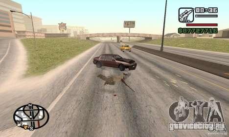 Потеря жизней при аварии для GTA San Andreas третий скриншот