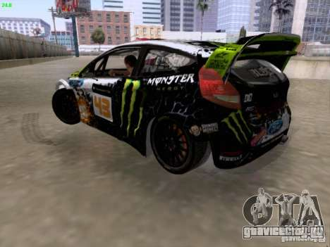 Ken Block Ford Fiesta 2012 для GTA San Andreas вид слева