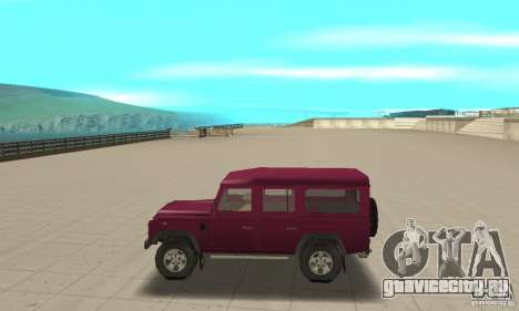 Land Rover Defender 110SW для GTA San Andreas вид слева