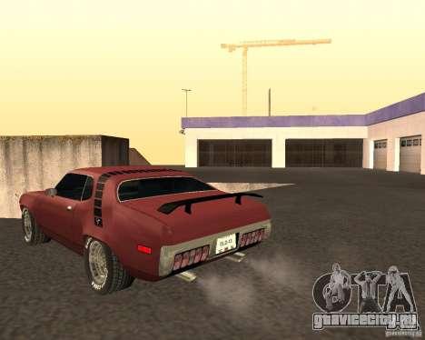 Plymouth Roadrunner для GTA San Andreas вид сзади слева