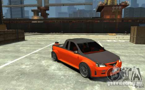 Dacia Pick-up Tuning для GTA 4 вид сзади