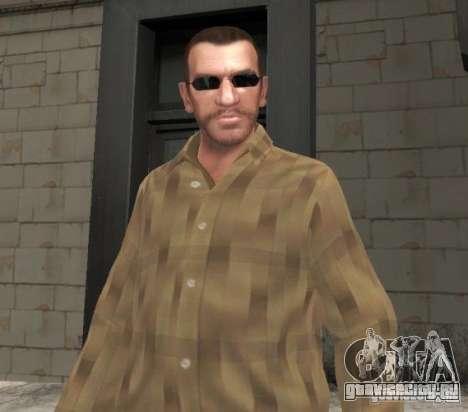 Новые очки для Нико - черные для GTA 4 второй скриншот