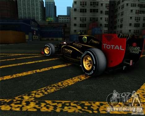 Lotus E20 F1 2012 для GTA San Andreas вид слева