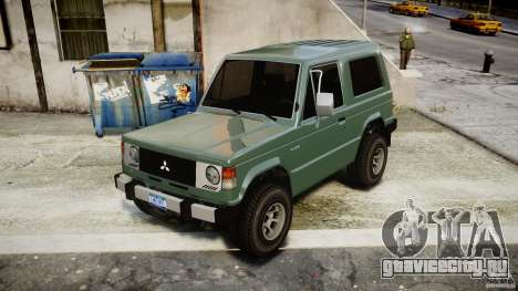 Mitsubishi Pajero I [Final] для GTA 4 вид справа