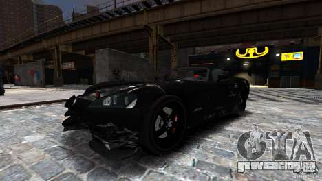 Dodge Viper SRT-10 ACR 2009 для GTA 4 вид изнутри