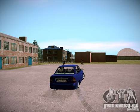 Лада Приора Челси для GTA San Andreas вид сзади слева