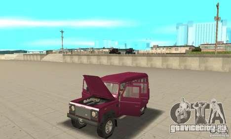 Land Rover Defender 110SW для GTA San Andreas вид сзади