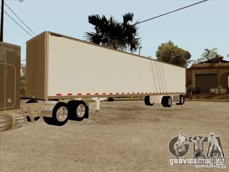 Прицеп к Peterbilt 379 Custom для GTA San Andreas вид изнутри