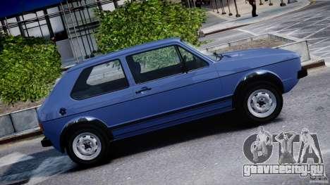 Volkswagen Golf Mk1 для GTA 4 вид снизу