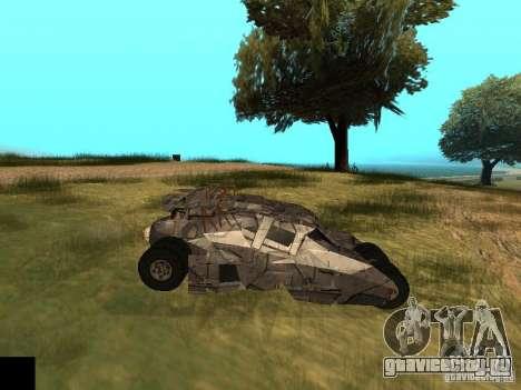 Batman Car для GTA San Andreas вид изнутри