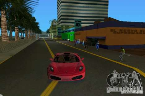 Ferrari F430 Spider 2005 для GTA Vice City вид сзади слева