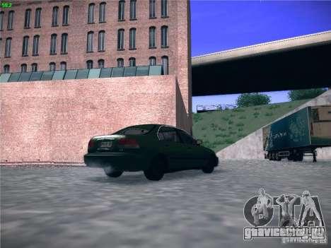 Honda Civic Sedan 1997 для GTA San Andreas вид сзади слева