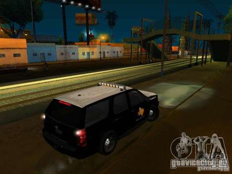 Chevrolet Tahoe Texas Highway Patrol для GTA San Andreas вид слева