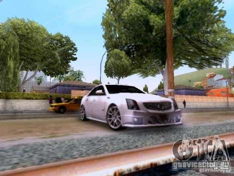 Cadillac CTS-V 2009 для GTA San Andreas вид сзади слева