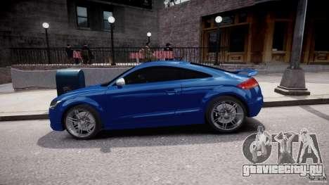 Audi TT RS Coupe v1 для GTA 4 вид изнутри