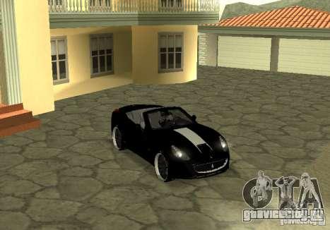 Ferrari California 2011 для GTA San Andreas вид справа