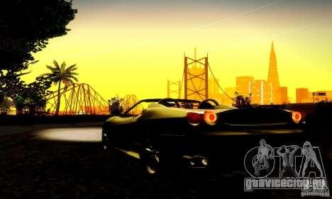 Ferrari F430 Spider для GTA San Andreas вид изнутри