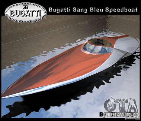Bugatti Sang Bleu Speedboat для GTA Vice City
