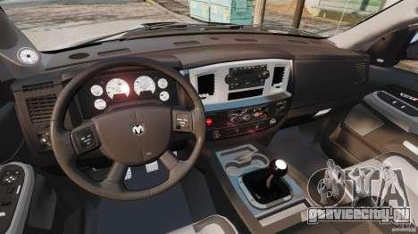 Dodge Ram SRT-10 2006 EPM для GTA 4 вид сзади