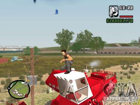 Комбайн СК-5 Нива для GTA San Andreas вид сзади