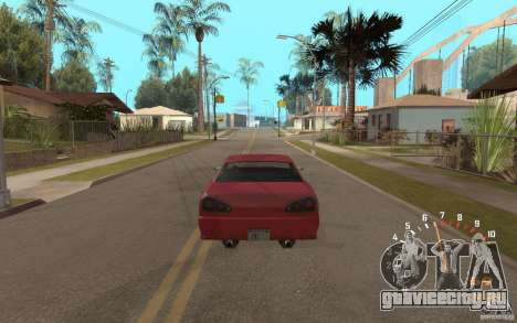 Digital speedometer and tachometer для GTA San Andreas