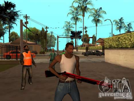 Red Chrome Weapon Pack для GTA San Andreas шестой скриншот