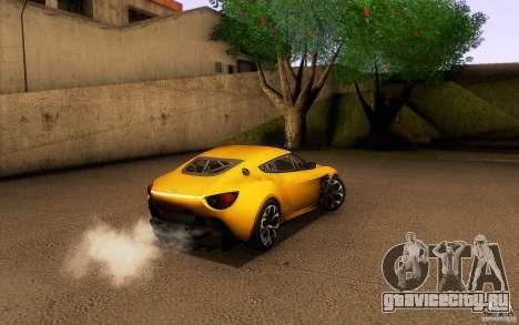 Aston Martin Zagato V12 V1.0 для GTA San Andreas салон
