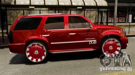 Cadillac Escalade 2011 DUB для GTA 4 вид слева