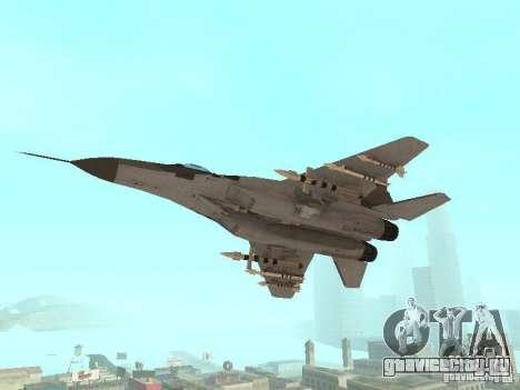 МИГ-29 из COD MW2 для GTA San Andreas вид справа