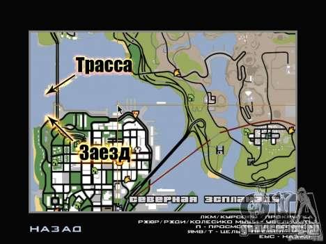 New Drift Track SF для GTA San Andreas девятый скриншот