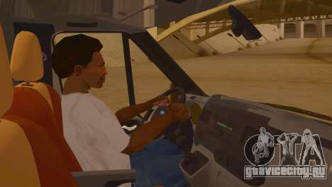 Ford Transit CNN для GTA San Andreas вид изнутри