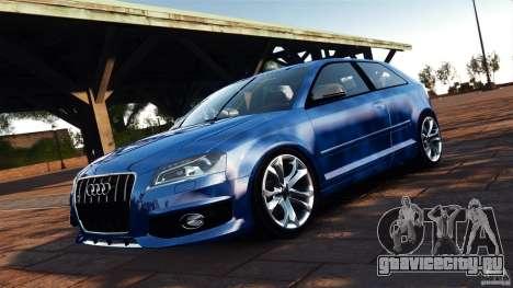 Audi S3 2010 v1.0 для GTA 4 вид сзади