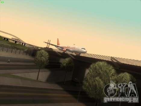 Airbus A320-214 EasyJet для GTA San Andreas вид сзади слева