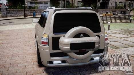 Mitsubishi Pajero Wagon для GTA 4 вид сзади слева