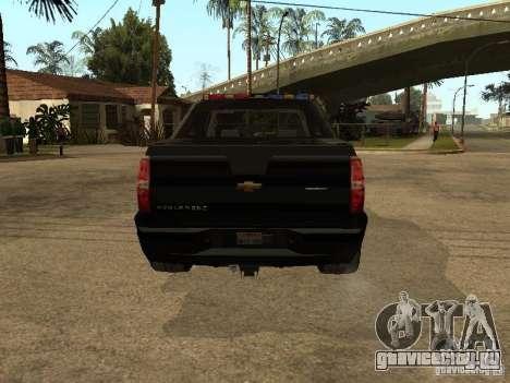 Chevrolet Avalanche Police для GTA San Andreas вид справа