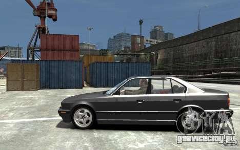 BMW 540i E34 v3.0 для GTA 4 вид слева